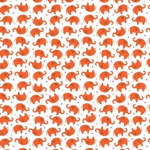 Happy Orange Elephants