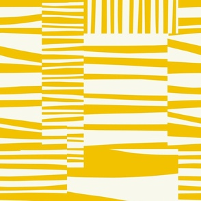 Twiggy Stripes, sunshine yellow, white