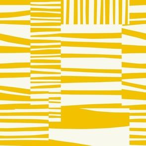 Twiggy Stripes, sunshine yellow, white