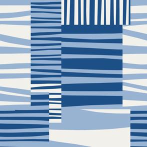 Twiggy Stripes, classic blue