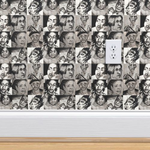 Black History Portraits Spoonflower