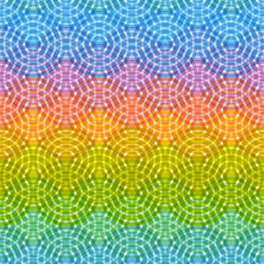 Bright colorful Rainbow trendy Geometric abstract