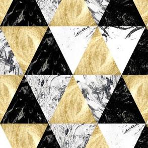 Marble art. Black, gold, white