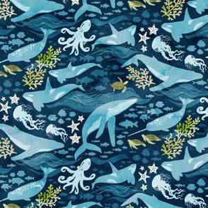 Ocean life in turquoise