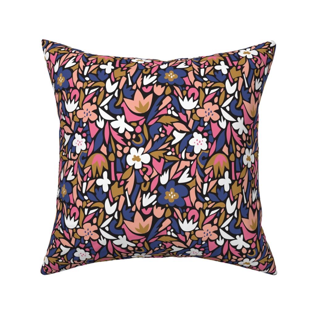 Catalan Throw Pillow featuring Floral terrazzo by alenkakarabanova