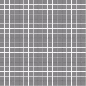 """granite grey windowpane grid 1"""" reversed square check graph paper"""
