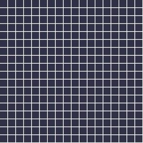 "midnight blue windowpane grid 1"" reversed square check graph paper"