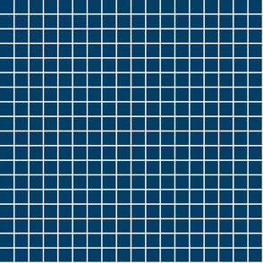 "navy blue windowpane grid 1"" reversed square check graph paper"