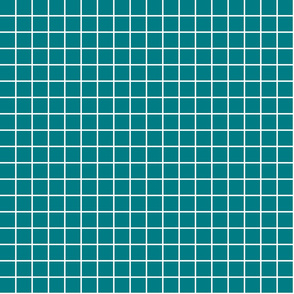 "dark teal windowpane grid 1"" reversed square check graph paper"