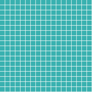 """teal windowpane grid 1"""" reversed square check graph paper"""