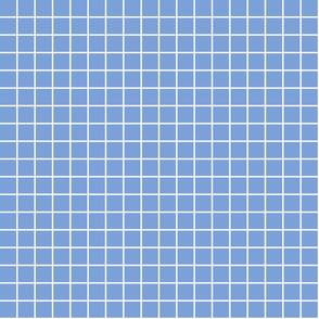"cornflower blue windowpane grid 1"" reversed square check graph paper"