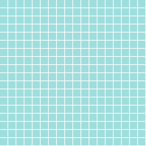 """light teal windowpane grid 1"""" reversed square check graph paper"""