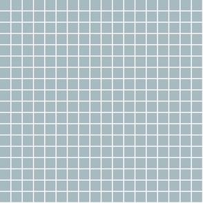"slate blue windowpane grid 1"" reversed square check graph paper"