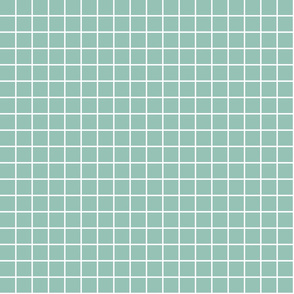 """faded teal windowpane grid 1"""" reversed square check graph paper"""