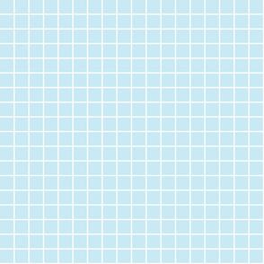 "ice blue windowpane grid 1"" reversed square check graph paper"