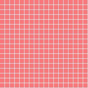 "coral windowpane grid 1"" reversed square check graph paper"