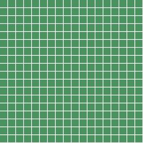 """kelly green windowpane grid 1"""" reversed square check graph paper"""