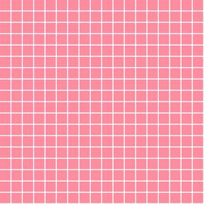 """pretty pink windowpane grid 1"""" reversed square check graph paper"""