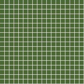 "hunter green windowpane grid 1"" reversed square check graph paper"