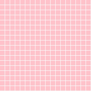 "light pink windowpane grid 1"" reversed square check graph paper"