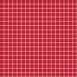 """red windowpane grid 1"""" reversed square check graph paper"""