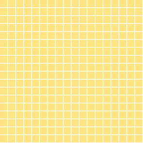 "sunshine yellow windowpane grid 1"" reversed square check graph paper"