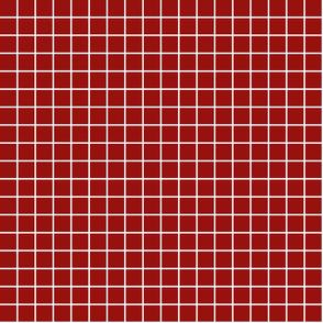 "dark red windowpane grid 1"" reversed square check graph paper"