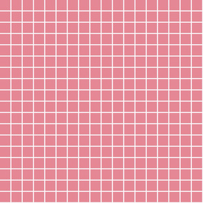 "berry cream windowpane grid 1"" reversed square check graph paper"