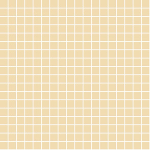 "creamy banana windowpane grid 1"" reversed square check graph paper"