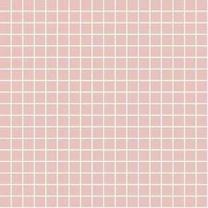 """dusty pink windowpane grid 1"""" reversed square check graph paper"""