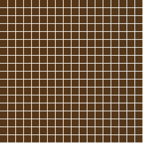 "brown windowpane grid 1"" reversed square check graph paper"