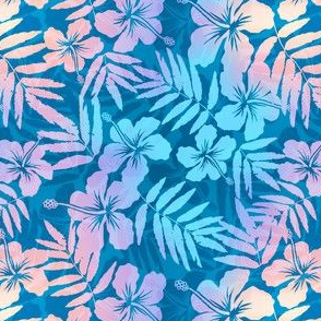 Blue pearl tropical flowers