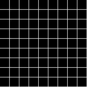 "black and white windowpane grid 2"" reversed square check graph paper"
