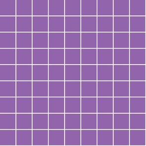 "amethyst purple windowpane grid 2"" reversed square check graph paper"