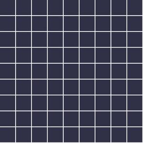 "midnight blue windowpane grid 2"" reversed square check graph paper"