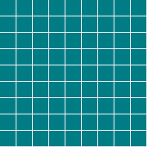 "dark teal windowpane grid 2"" reversed square check graph paper"