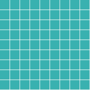 """teal windowpane grid 2"""" reversed square check graph paper"""