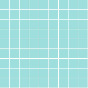 """light teal windowpane grid 2"""" reversed square check graph paper"""