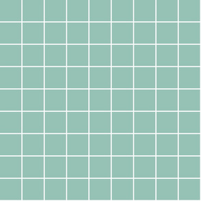 """faded teal windowpane grid 2"""" reversed square check graph paper"""