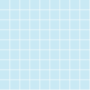 "ice blue windowpane grid 2"" reversed square check graph paper"