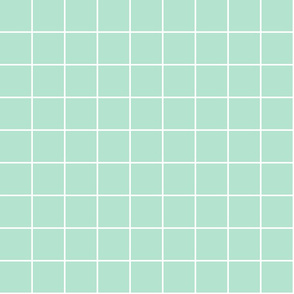 "mint green windowpane grid 2"" reversed square check graph paper"