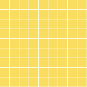 """butter yellow windowpane grid 2"""" reversed square check graph paper"""