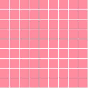 """pretty pink windowpane grid 2"""" reversed square check graph paper"""