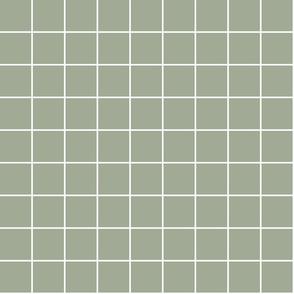"sage green windowpane grid 2"" reversed square check graph paper"