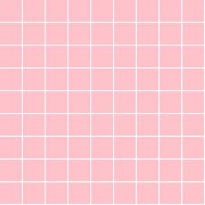 "light pink windowpane grid 2"" reversed square check graph paper"