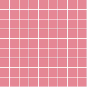 "berry cream windowpane grid 2"" reversed square check graph paper"