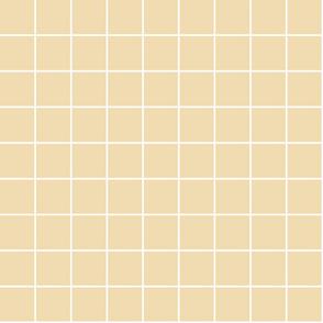 "creamy banana windowpane grid 2"" reversed square check graph paper"
