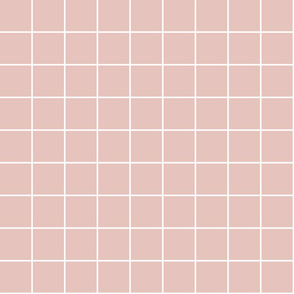 """dusty pink windowpane grid 2"""" reversed square check graph paper"""