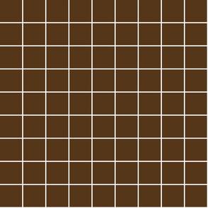 "brown windowpane grid 2"" reversed square check graph paper"