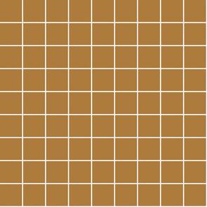 "caramel windowpane grid 2"" reversed square check graph paper"